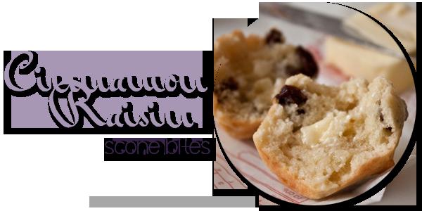 Cinnamon Raisin Scone Bites