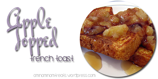 Apple Topped French Toast