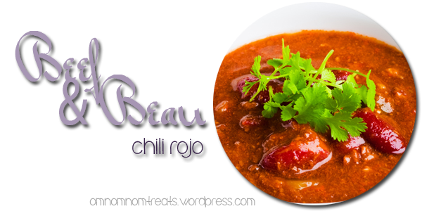 Beef and Bean Chili Rojo