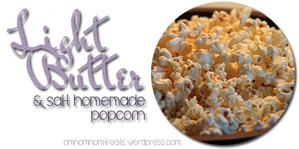 Light Butter and Salt Homemeade Popcorn