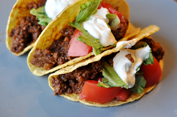 Super Spicy Ground Beef Tacos | Om Nom Nom - Eats & Treats