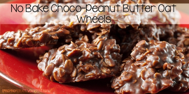 No Bake Choco-Peanut Butter Oat Wheels