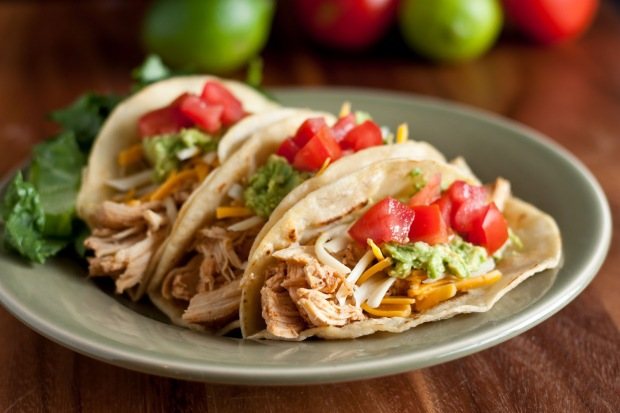 Three Chili Chicken Tacos