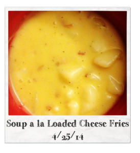 20140425 - Soup a la Loaded Cheese Fries