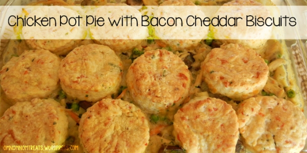 Chicken Pot Pie with Bacon Cheddar Biscuits