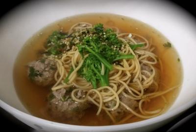 Meatball Vegetable Noodle Soup
