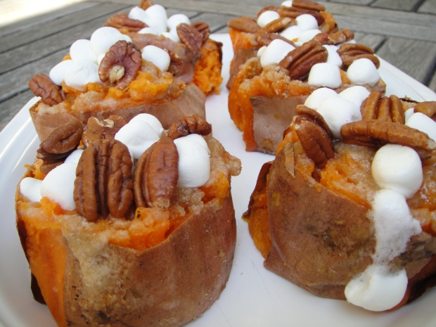 Pecan Marshmallow Sweet Potato
