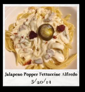 20140520 - Jalapeno Popper Fettuccine Alfredo
