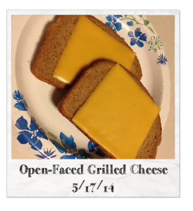 Open-Faced Grilled Cheese