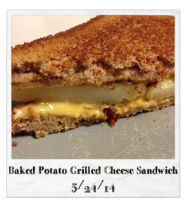20140524 - Baked Potato Grilled Cheese Sandwich