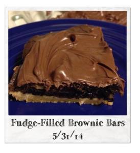 20140531 - Fudge-Filled Brownie Bars
