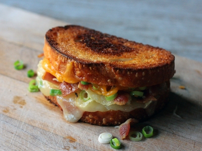Baked Potato Grilled Cheese Sandwich